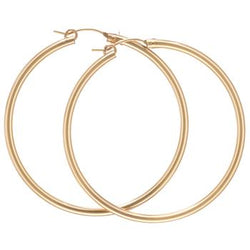 Round Gold Smooth Hoop Large