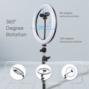 LED Ring Light & Telescopic Tripod