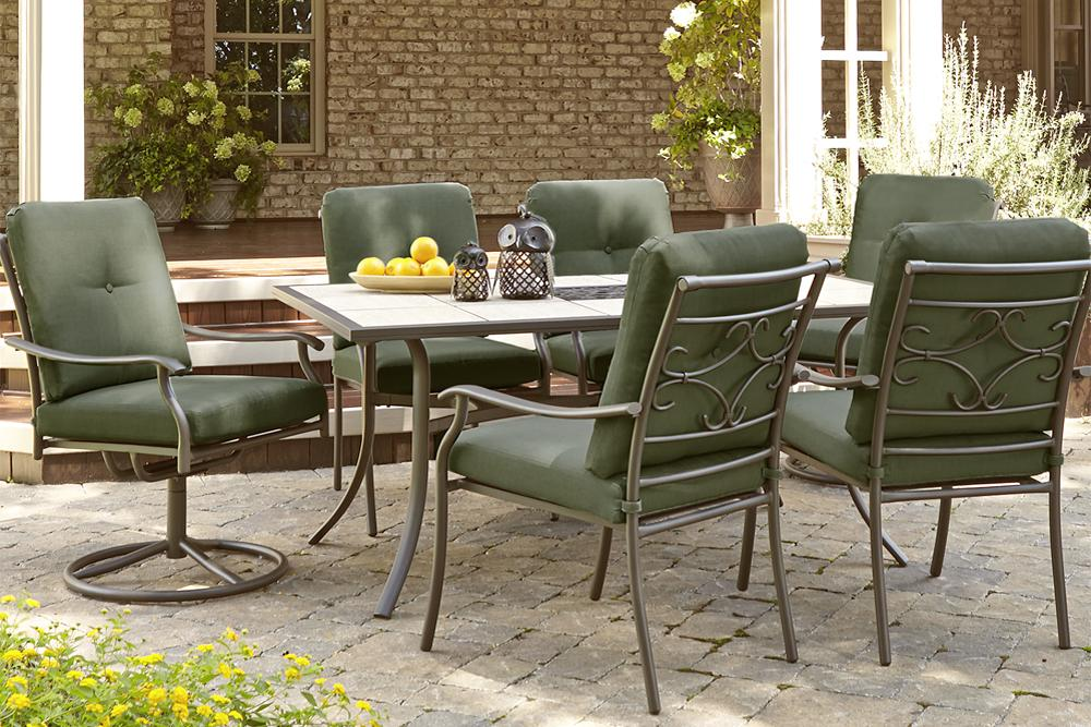 Jaclyn Smith Kmart Clermont 7PC Outdoor Patio Dining Furniture Set Green