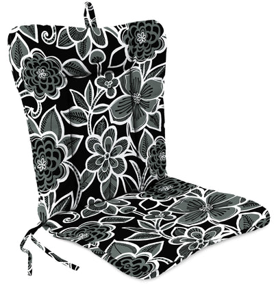 Outdoor Knife Edge Euro Style Chair Cushion-HALSEY SHADOW RICHLOOM