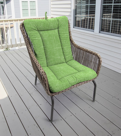 Outdoor Knife Edge Euro Style Chair Cushion-TORY PALM RICHLOOM