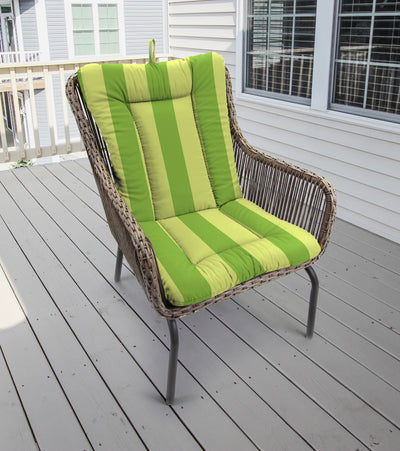 Outdoor Knife Edge Euro Style Chair Cushion-PREVIEW LEAF RICHLOOM