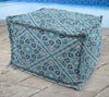 "20"" Square Outdoor Bead Filled Pouf/Ottoman-MEDLO BAY RICHLOOM"