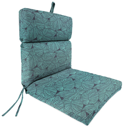 Outdoor French Edge Dining Chair Cushion-TALIA CARIBE RICHLOOM