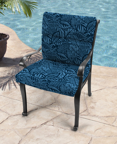 Outdoor French Edge Dining Chair Cushion-MAVEN CAPRI