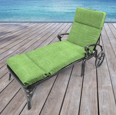 Outdoor French Edge Chaise Lounge Cushion-TORY PALM RICHLOOM