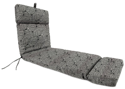 Outdoor French Edge Chaise Lounge Cushion-TALIA NOIR RICHLOOM