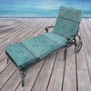 Outdoor French Edge Chaise Lounge Cushion-TALIA CARIBE RICHLOOM