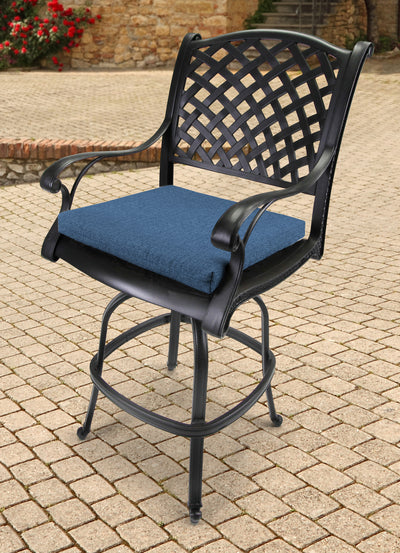 Outdoor French Edge Seat Cushion-HUSK TEXTURE CAPRI RICHLOOM