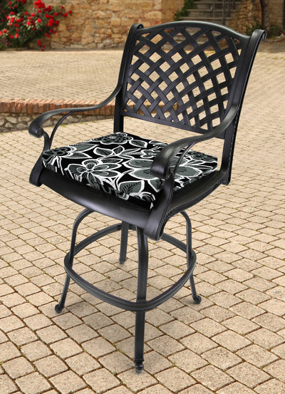 Outdoor French Edge Seat Cushion-HALSEY SHADOW RICHLOOM