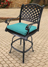 Outdoor French Edge Seat Cushion-TORY CARIBE RICHLOOM