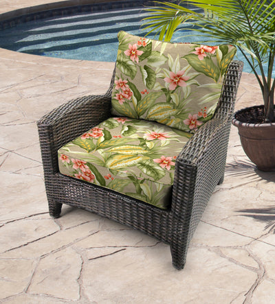 Outdoor 2PC Deep Seat Chair Cushion-TAHITI SUNRISE RICHLOOM