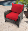 Outdoor 2PC Deep Seat Chair Cushion- Sunbrella CANVAS JOCKEY ACR RED ACR GLEN RAVEN
