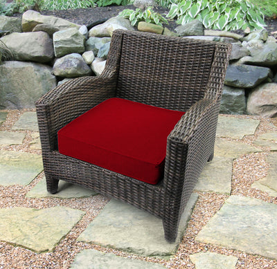 Outdoor Boxed Edge Deep Seat Cushion-MCHUSK BERRY RICHLOOM