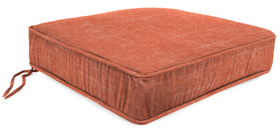 Outdoor Boxed Edge Deep Seat Cushion-TORY SUNSET RICHLOOM