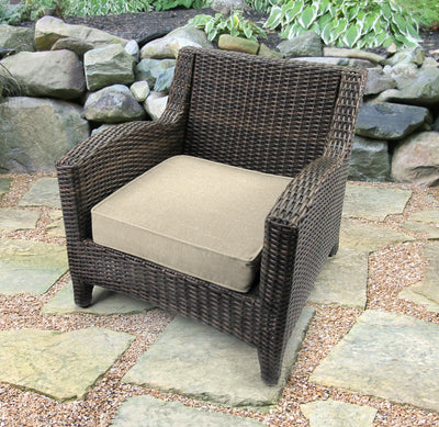 Outdoor Boxed Edge Deep Seat Cushion-TORY BISQUE RICHLOOM