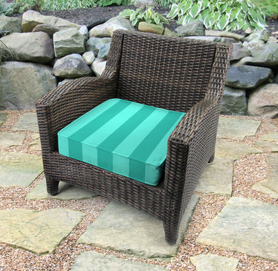 Outdoor Boxed Edge Deep Seat Cushion-PREVIEW LAGOON