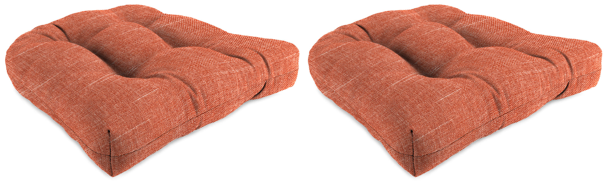"Set of 2 Outdoor 18"" Wicker Chair Cushions-TORY SUNSET RICHLOOM"