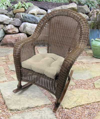 "Set of 2 Outdoor 18"" Wicker Chair Cushions-TORY BISQUE RICHLOOM"