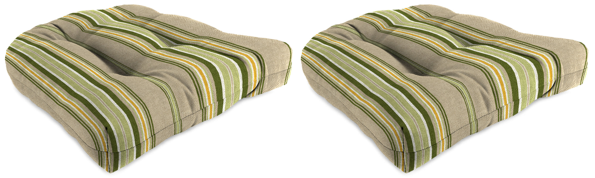 "Set of 2 Outdoor 18"" Wicker Chair Cushions-TERRACE SUNRISE RICHLOOM"