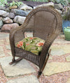 "Set of 2 Outdoor 18"" Wicker Chair Cushions-TAHITI SUNRISE RICHLOOM"
