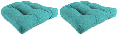 "Set of 2 Outdoor 18"" Wicker Chair Cushions-TORY CARIBE RICHLOOM"