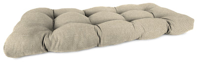 "Outdoor 44"" Wicker Loveseat Cushion-TORY BISQUE RICHLOOM"