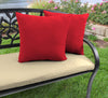 "Outdoor 16"" Accessory Throw Pillows, Set of 2- Sunbrella CANVAS JOCKEY ACR RED ACR GLEN RAVEN"