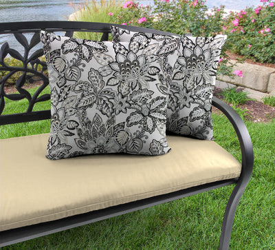"Outdoor 16"" Accessory Throw Pillows, Set of 2-COPELAND NOIR RICHLOOM"
