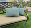 Outdoor Lumbar Accessory Throw Pillows, Set of 2- Sunbrella SHORE LINEN GLEN RAVEN