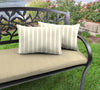 Outdoor Lumbar Accessory Throw Pillows, Set of 2- Sunbrella CAST MIST GLEN RAVEN