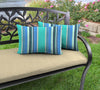 Outdoor Lumbar Accessory Throw Pillows, Set of 2- Sunbrella DOLCE STR OASIS ACR GLEN RAVEN