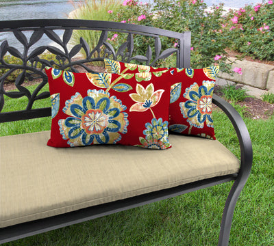 Outdoor Lumbar Accessory Throw Pillows, Set of 2-DAELYN CHERRY RICHLOOM