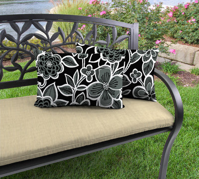 Outdoor Lumbar Accessory Throw Pillows, Set of 2-HALSEY SHADOW RICHLOOM