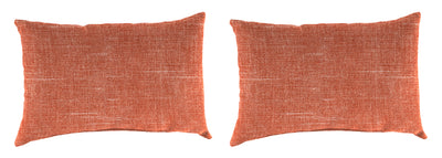 Outdoor Lumbar Accessory Throw Pillows, Set of 2-TORY SUNSET RICHLOOM