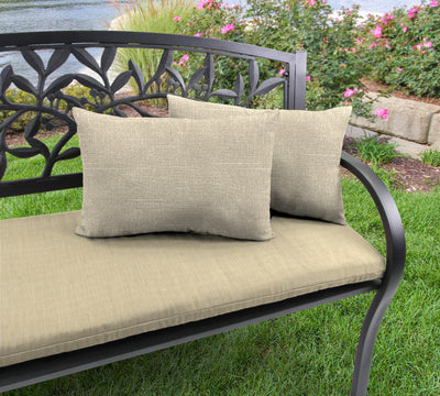 Outdoor Lumbar Accessory Throw Pillows, Set of 2-TORY BISQUE RICHLOOM