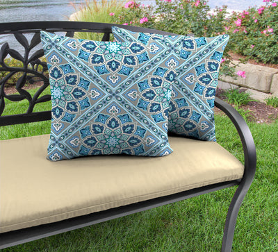 "20"" Outdoor Accessory Throw Pillows, Set of 2-MEDLO BAY RICHLOOM"