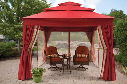 BHG Archer Ridge 10x12 FT Red Gazebo Canopy