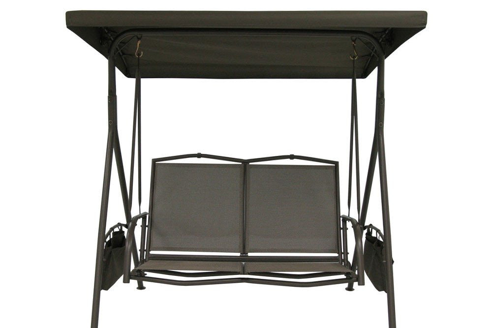 Garden Treasures 2-Seat Swing Canopy with Canopy Fabric & Frame