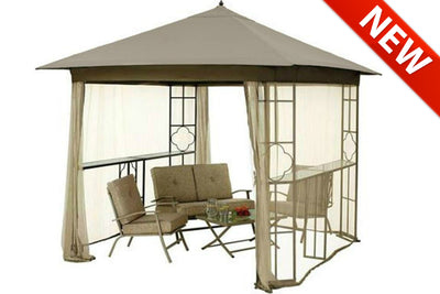 Mainstays Landsdowne Heights Double Shelf Gazebo Canopy - High Grade 300D