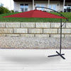 10' STEEL OFFSET UMBRELLA- RED
