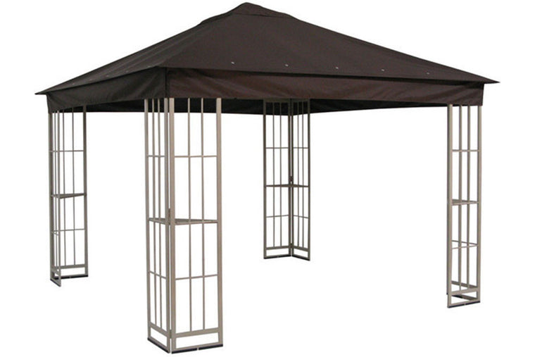 Garden Treasures 10'x10' Canopy for S-J-109DN in Dark Brown - Replacement Canopies For Gazebos, Pergolas, And Swings - The