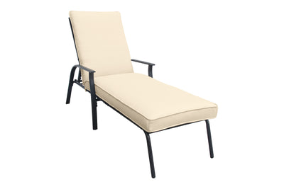 Harrington Cushioned Chaise Lounge, Neutral