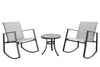 Aurora 3 Piece Sling Rocking Bistro Set, Gray