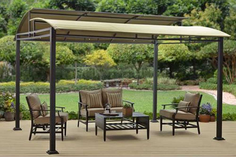 BHG Sawyer Cove 12x10 FT Barrel Roof Gazebo Canopy