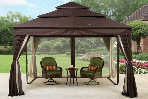 BHG Archer Ridge 10x12 FT Brown Gazebo Canopy