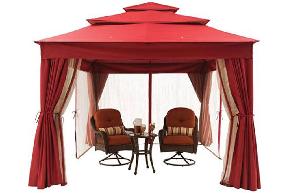... BHG Archer Ridge 10x12 FT Red Gazebo Canopy ...  sc 1 st  The Outdoor Patio Store & Replacement Canopy for BHG Archer Ridge Gazebo u2014 The Outdoor Patio ...