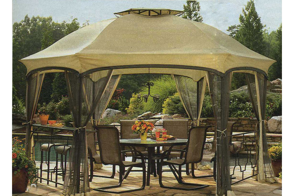 Garden Oasis Dawson Hexagonal Gazebo Replacement Canopy - High Grade u2014 The Outdoor Patio Store & Garden Oasis Dawson Hexagonal Gazebo Replacement Canopy - High ...