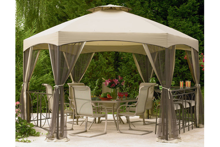 Replacement insect netting for gazebos the outdoor patio - Insect netting for gazebo ...