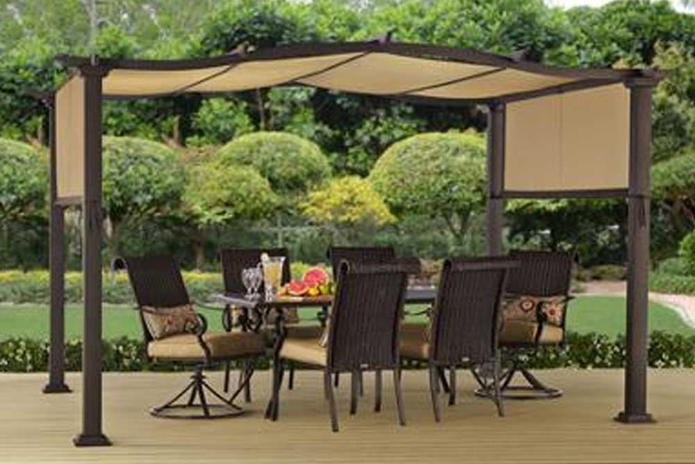 BHG Emerald Coast 12x10 FT Steel Pergola Canopy & Replacement Canopy for Better Homes u0026 Garden Emerald Coast Pergola ...